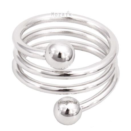 Mágneses Spirál Gyűrű Ezüst Bevonattal
