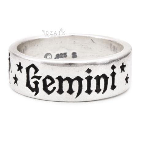 Horoszkóp Ezüst Karika Gyűrű – IKREK
