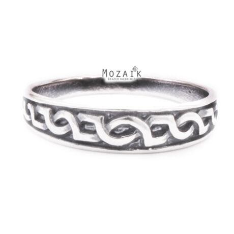 Ezüst Gyűrű Fonott Mintával