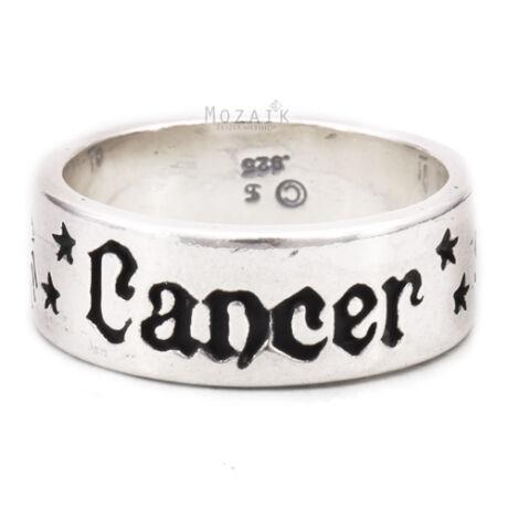 Horoszkóp Ezüst Karikagyűrű – RÁK