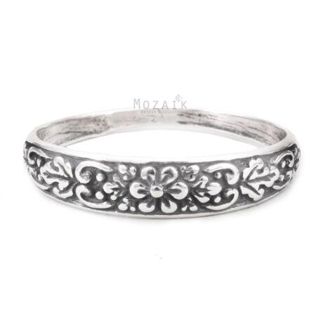 Ezüst Virágmintás Gyűrű