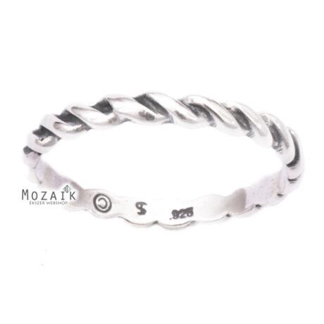 Fonott Ezüst Gyűrű