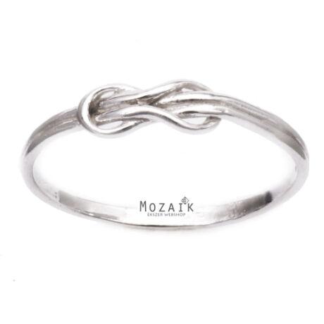 Ezüst Gyűrű Hurok Mintával