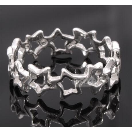 Ezüst Gyűrű Csillagokkal