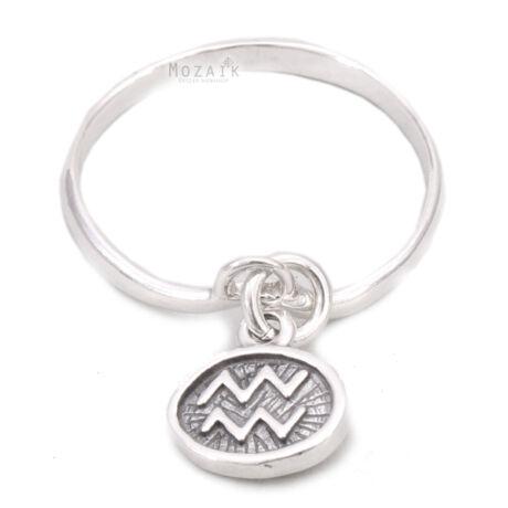 Horoszkóp Ezüst Gyűrű – VÍZÖNTŐ