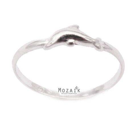 Ezüst Gyűrű Delfinnel