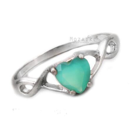 Ezüst Gyűrű Zöld Ónixszal
