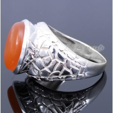 Sterling Ezüst Kaboson Gyűrű