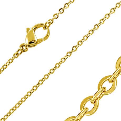 Nemesacél Lánc Aranyszínű Bevonattal - 44 cm hosszú