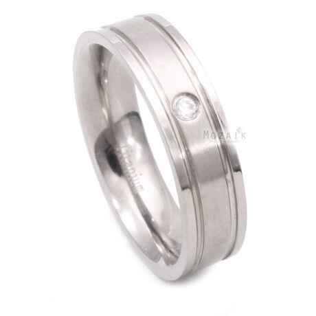 Titánium Gyűrű Cirkóniával