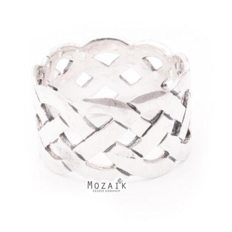 Mutatós Ezüst Fonott Gyűrű