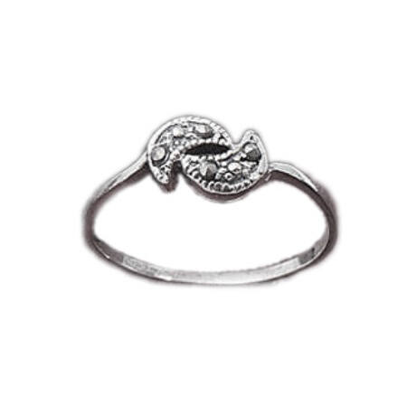 Sterling Ezüst Gyűrű Markazittal