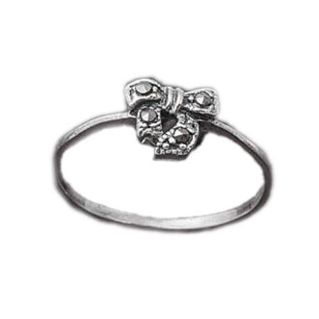 Sterling Ezüst Gyűrű Masnival