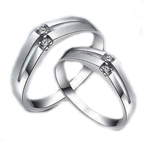 Sterling Ezüst Jegygyűrű Cirkóniával