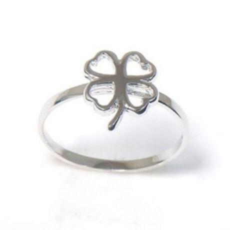 Sterling Ezüst Gyűrű Négylevelű Lóherével